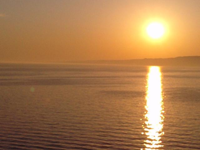 coucher de soleil sur le golfe du lion