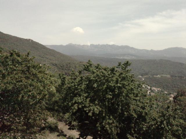 vue depuis le village sur les Aguilles de Bavella